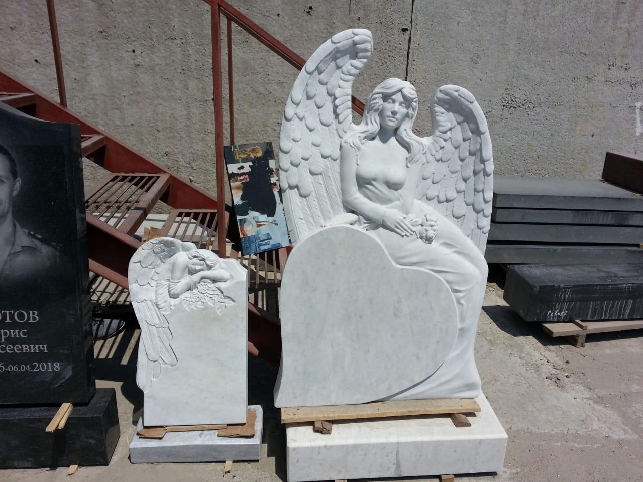 Ангел с сердцем из мрамора
