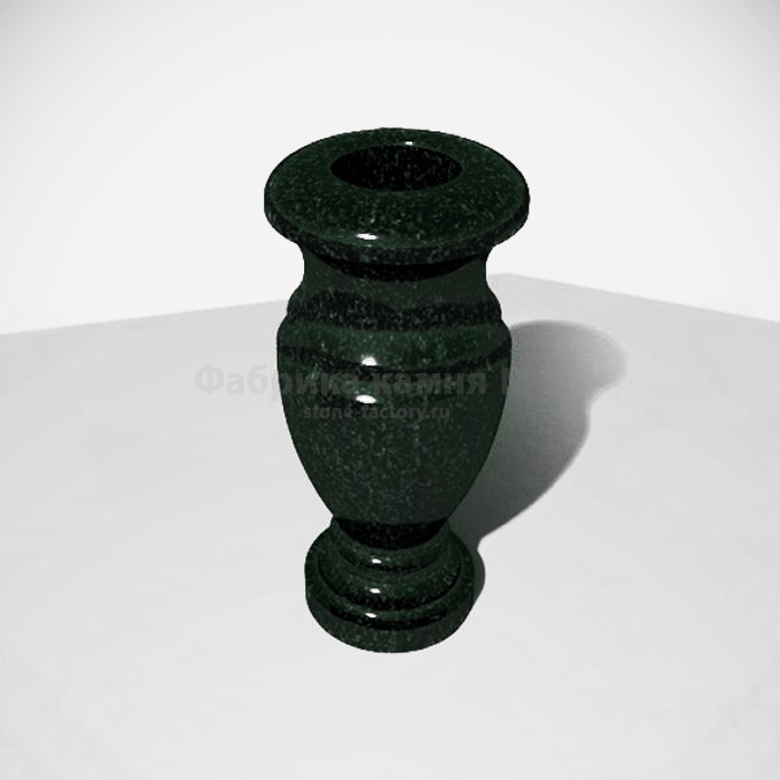 Гранитная ваза ЗЕЛЁНАЯ