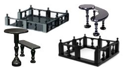 Ограды, столы, лавочки